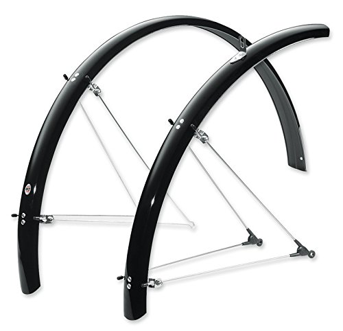 Guard Splash Bicycle (SKS B53 Commuter 2 Bicycle Fender Set (Black, Fits Tire Sizes 700 x 38-47 ))