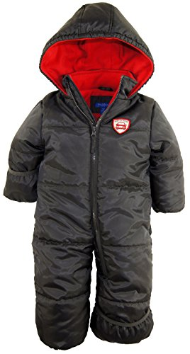 ixtreme-baby-boys-infant-expedition-car-one-piece-snowsuit-puffer-bunting-jacket-charcoal-18-months