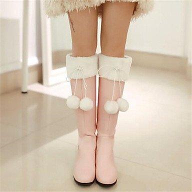 cm Damen 10 Komfort beige Frühling PU Rosa 12 Stiefel Winter amp;xuezi GLL Normal Beige 5nOfxT7f