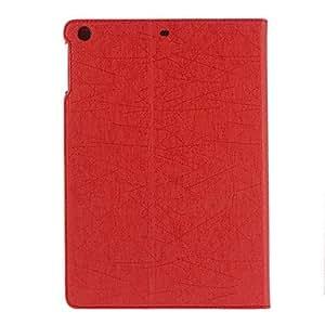 Corteza de seda del patrón de la PU de caso completo de cuerpo con soporte para iPad Air (colores surtidos) , Rosado
