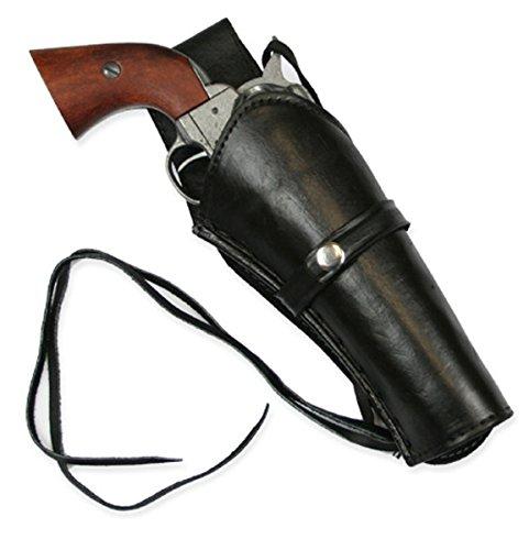 Historical Emporium Men's Right Hand Plain Leather Western Holster Black