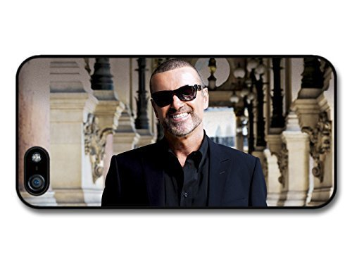 Smiling Portrait (AMAF © Accessories George Michael Smiling Portrait with Sunglasses and Black Shirt case for iPhone 5)