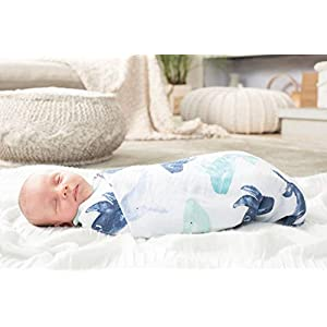 aden + anais Swaddle Blanket | Boutique Muslin Blankets for Girls & Boys | Baby Receiving Swaddles | Ideal Newborn & Infant Swaddling Set | Perfect Shower Gifts, 4 Pack, Seafaring