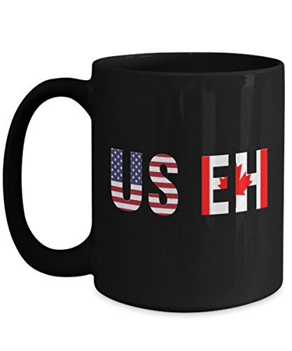 - USEH America Canada Flag mug Funny American Canadian cups-Funny USA-mugs for American and Canadian holidays-vintage the eh team-happy Canada day