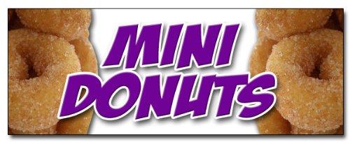 MINI DONUTS VINYL BANNER SIGN donut fried dough sugar chocolate mini powdered cinnamon doughnut doughnuts minature signs (2FT X 5FT)