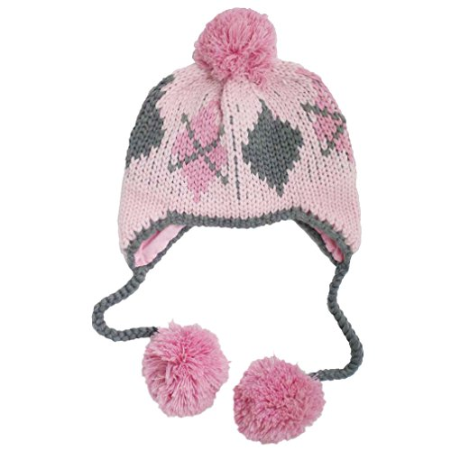 Huggalugs Cheeky Argyle Girls Beanie Hat M