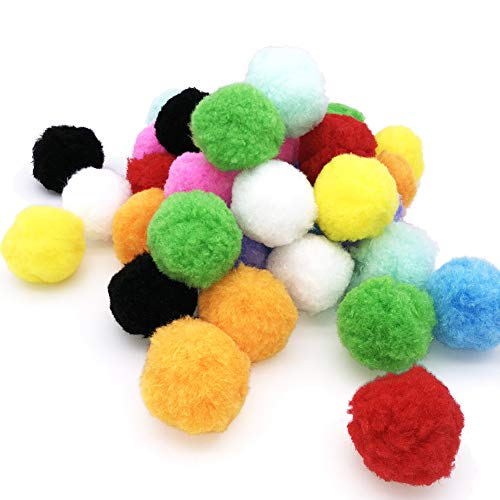 Rimobul Standard 10 Colors Jumbo Pom Pom Fuzzy Balls My Cat's All Time Favorite Toy - 2.1