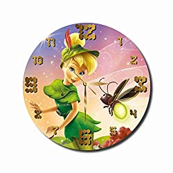 MAGIC WALL CLOCK FOR DISNEY FANS Tinker Bell 11.8'' Handmade made acrylic glass - Get unique décor home office - Best gift ideas kids, friends, parents your soul mates