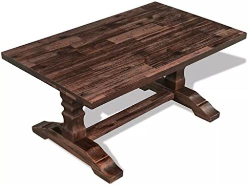 100% Authentiek Luckyfu Deze salontafel met schildersezel van massief acaciahout 100 x 60 x 45 cm. Uniek en modern design. Salontafel met lage tafel PpnuzwR