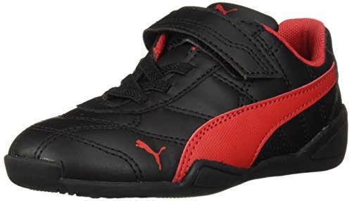 PUMA Baby Tune Cat 3 Velcro Sneaker, Black-Ribbon red, 9 M US Toddler