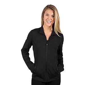 90 Degree By Reflex Womens Full Zip Jacket - Black - Medium