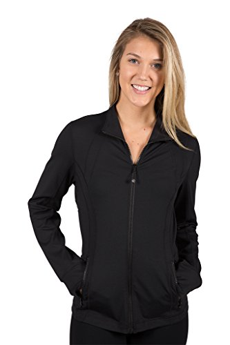90 Degree By Reflex Womens Full Zip Jacket - Black - Small