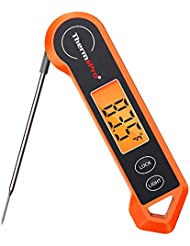 ThermoPro TP19H Waterproof Digital Meat Thermometer for Grilling with Ambidextrous Backlit and Motion Sensing Kitchen Cooking Food Thermometer for BBQ Grill Smoker Oil Fry Candy Thermometer