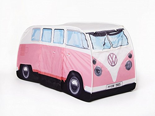VW Volkswagen T1 Camper Van Kids Pop-Up Play Tent - Pink - Multiple Color Options Available