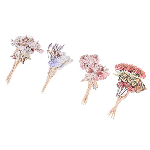 24pcs Flower Fairy Cupcake Toppers - 4