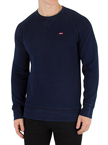 Levi's Men's Original Icon Sweatshirt, Blue, Medium (Sweatshirt Mens Icon)