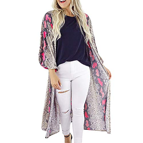Hot To Lace Vans - Zlolia Women's Floral Print Chiffon Cardigan
