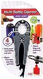 Multi Bottle Opener - Beer Bottle Opener, Beer Opener, Soda Can Opener Manual, Jar Opener, Nail Polish Opener - Multiopener For Bottles, Jars, Cans, Good For Arthritis or Weak Hands (3 Pack)