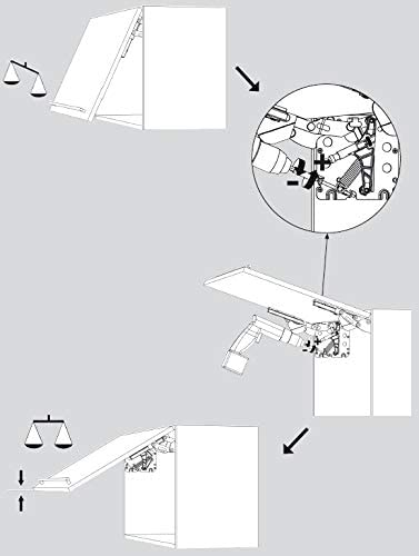 Grass Kinvaro T-71 W/ürth HETAL Herraje para armario alto de cocina con amortiguaci/ón