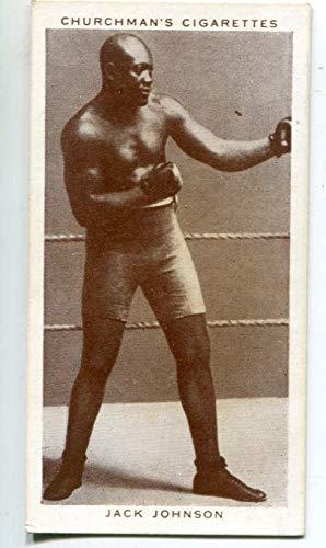 Jack Johnson 1938 Churchman Cigarette Boxing Card