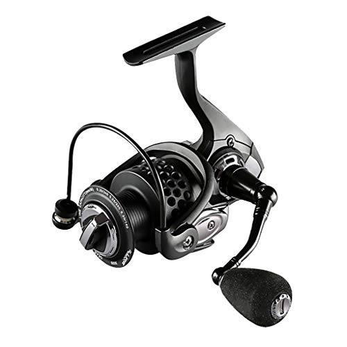 (Glumes Spinning Reels, Ultralight Alloy Fishing Reel with 6+1 Corrosion Resistant Bearings Smooth Powerful Fishing Reel Spinning 5.2: 1 Gear Ratio Reels Freshwater)