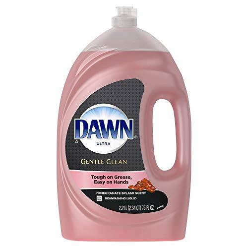 Dawn Ultra Hand Renewal Gentle Clean, Pomegranate Splash Scent Dishwashing Liquid (75 FL) (Best Dishwashing Liquid For Hands)