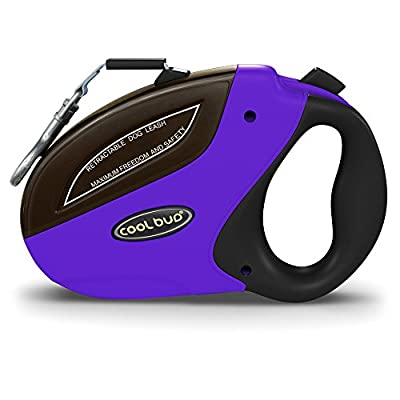 VersionTech Retractable Nylon Dog Leash For Large and Small Dog up to 110 lbs, 16 ft, Tangle Free, One Button Break & Lock