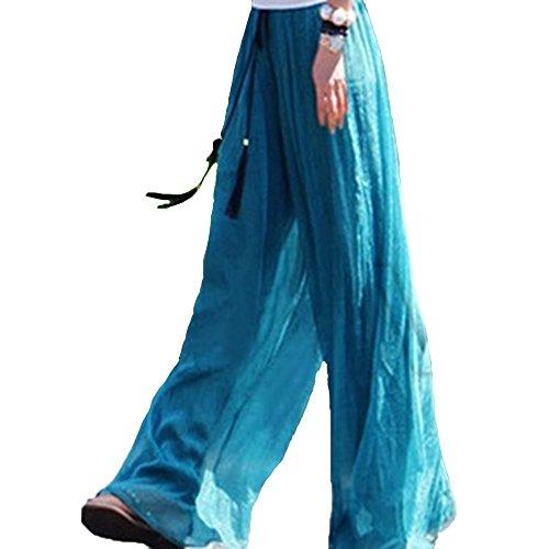YAELUCKY - Pantalón - para mujer Azul