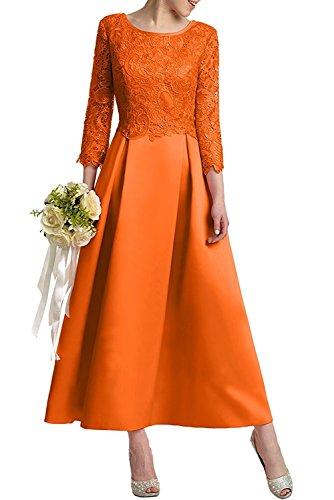 Promkleider Pink Ballkleider mia Rock Linie Brautmutterkleider Herrlich Braut Knoechellang Satin Orange A La Abendkleider Spitze qHYt0tnd