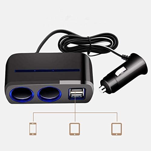 12/&24V Cigarett Lighter Socket Plug Dual USB Charger Power Outlet For Car Boat