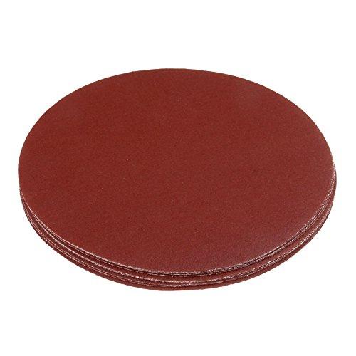 Dophee 10Pcs 9 Inch 225mm Red Alumina Polishing Sanding Discs Sandpaper Pad 120# Grit ()