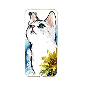 CaseCityLiu - Sunflower Cartoon Cat Design Gold Bumper Metal Frame Full Armor Protect Case Cover for Apple iPhone 5 5s 5th 5g 5Generation