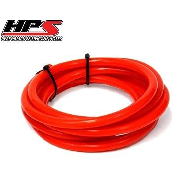 HPS 8mm Full Silicone Coolant Air Vacuum Hose Line Pipe Tube x 5 Feet Black