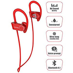 Dreaminex DR-600 Wireless Bluetooth Earphones with Mic - Red