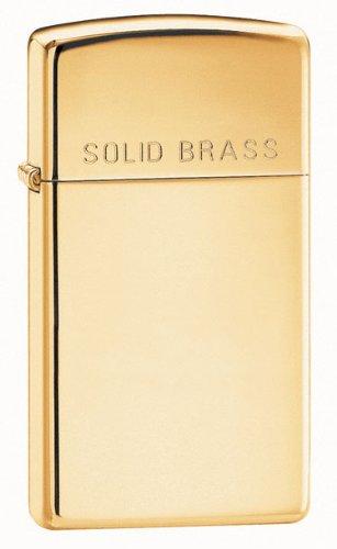 Zippo Slim Solid Brass Engraved Lighter (Set of 3)