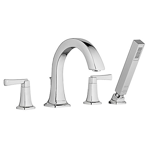 American Standard 7353901.002 Townsend Deck-Mount Bathtub Faucet with Personal Shower, Polished Chrome American Deck Mount Faucet