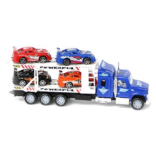 Lollipop Friction Truck City Series Transport Rig Car Set (Blue) (Blue Rig)