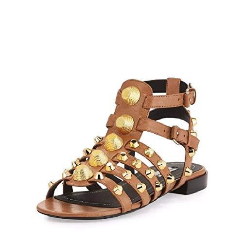 KPHY des Sandales Sandales Déesse Sexy Rivets Chaussures Filles Été en avec des gold des Talons pour Femmes Champagne des Boucles Hauts 9Cm TTrAwzq