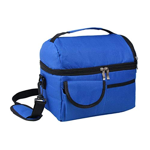 ADOSOUL ADOSOUL Large Insulated Lunch Bag Cooler Tote With 2 Reusable Cooler Ice Packs Easy Pull Zippers, Detachable Shoulder Strap, Roomy Compartments For Lunch Box, Bottles,Travel from ADOSOUL