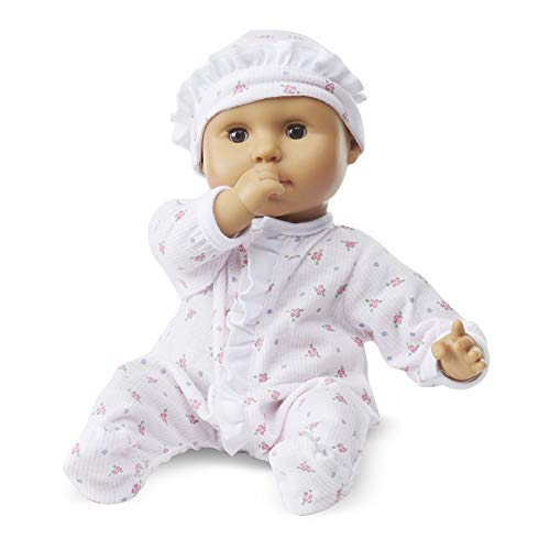 "(Melissa & Doug Mine to Love Mariana 12-Inch Baby Doll, Romper and Hat Included, Wipe-Clean Arms & Legs, 12.4"" H x 7.2"" W x 4.7"" L)"