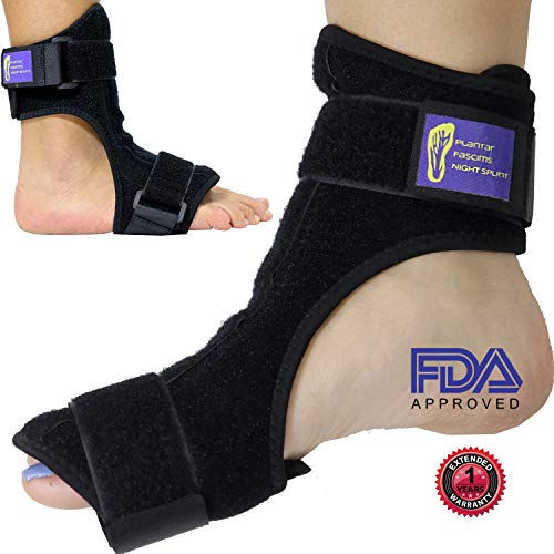 Everyday Medical Plantar Fasciitis Night Splint Brace for Plantar Fasciitis Pain Relief - Dorsal Stretching Support Best for Achilles Tendonitis, Heel Pain, Plantar Fascia, Drop Foot for Men & Women