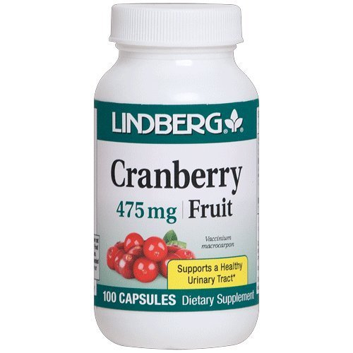 Lindberg Cranberry Fruit 475 Mg - Supports a Healthy Urinary Tract* (100 Capsules) by - Mg 475 Capsules 100
