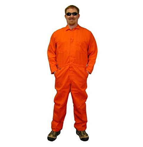 Stanco NX4681OR-L Safety Products Large Orange Nomex IIIA Arc Rated Flame Resistant Coveralls with Front Zipper Closure, English, 4.32 fl. oz, Plastic, 1 x 1 x 1 ()