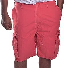 Nautica Mens Cotton Modern Fit Cargo Shorts Beige 30