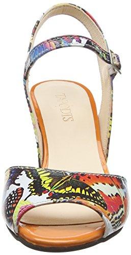 TAPODTS Chloe 2 - Sandalias Mujer Mehrfarbig (naranja/9004 multicolor)