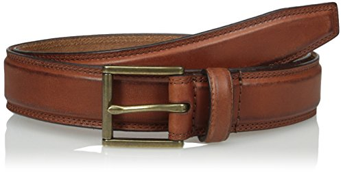 Cole Haan Men's Cole Haan 32mm Double Stitched Pressed Edge Belt, Woodbury Antique Brass, 42