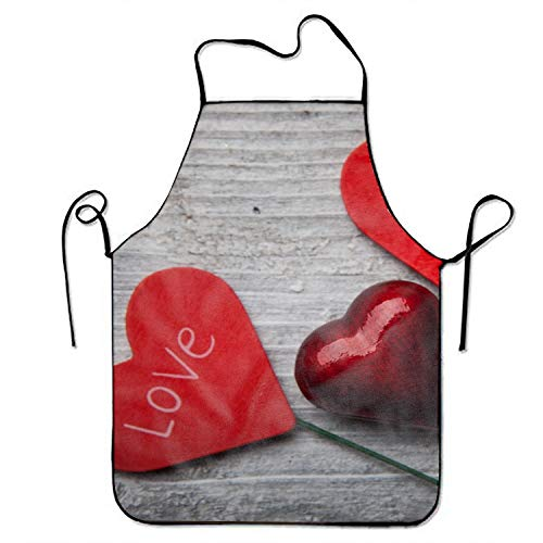 Jerry Warner Holiday Valentines Day Heart Love Adjustable Apron for Kitchen Garden Cooking Grilling Women's Men's Great Gift for Wife Ladies Men Boyfriend