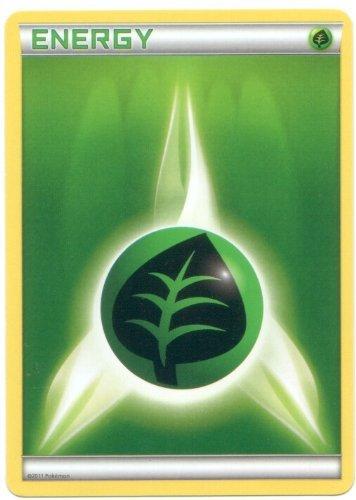 Basic Grass Energy Pokemon Card (Black & White Series, Green Type)