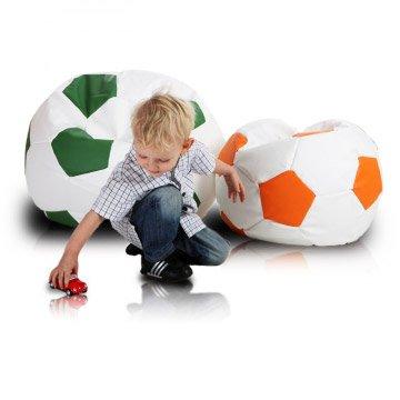 Puf con forma de balón de fútbol Sport M de altura: 45 cm pie: 65 ...