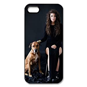 CTSLR Lorde Royals Protective Hard Case Cover Skin for Apple iPhone 5/5s- 1 Pack - Black/White - 5